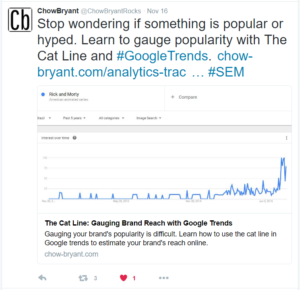Twitter Card for Cat Line Article