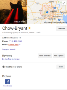 Chow-Bryant Knowledge Graph - Schema Markup