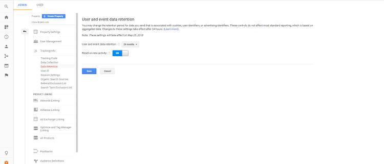 Google Data Retention Controls