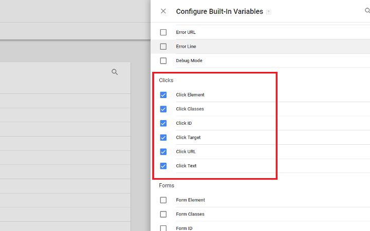 Configure Variables in Google Tag Manager